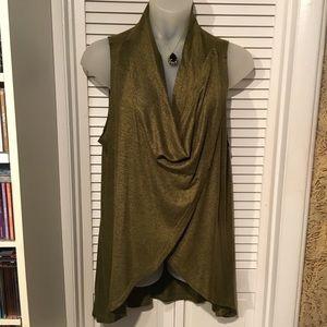 NWOT Olivia Sky Olive Green Blouse XL